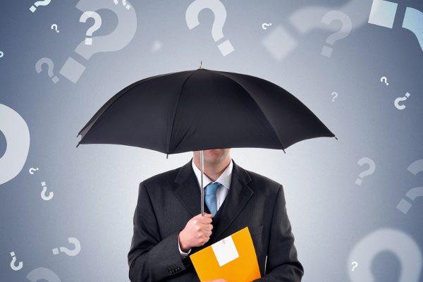 Znaki zapytania parasol