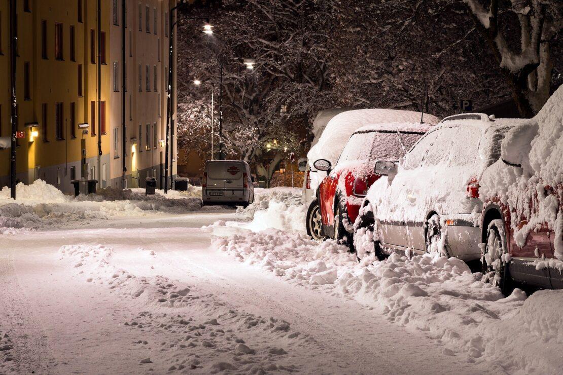 snieg ulica