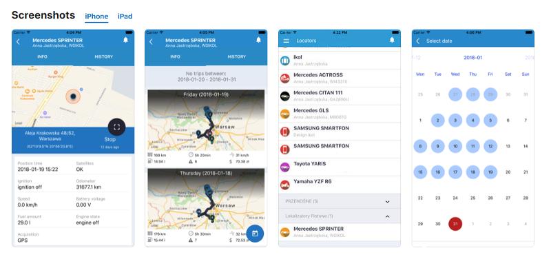 ikol Tracker na iOS