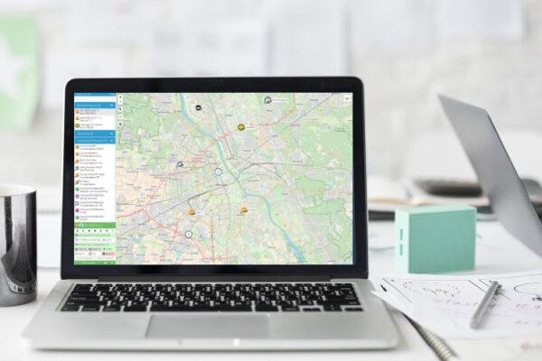 Monitoring GPS w laptopie