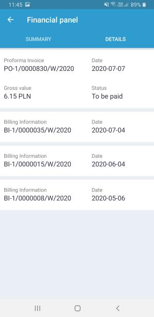 IKOL Tracker panel finansowy szczegóły