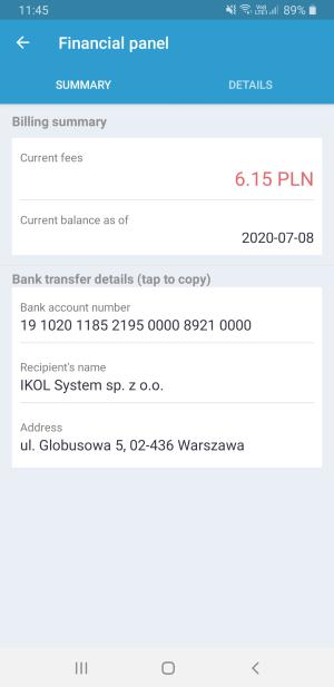IKOL Tracker panel finansowy